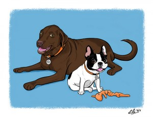 LiliChin2dogs
