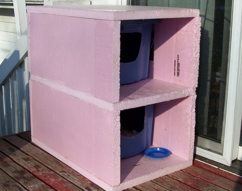 DIY Warm Winter Cat Houses Pet Project